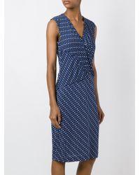 Diane von Furstenberg - Blue Chiffon Wrap Dress - Lyst