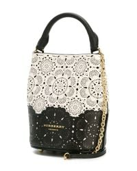 Burberry Prorsum - White Lace Cut-out Bucket Bag - Lyst