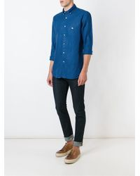 Etro | Blue Button Down Shirt for Men | Lyst