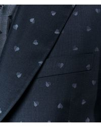 Christopher Kane - Black Heart Single Breasted Tailored Jacket for Men - Lyst