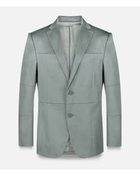 Christopher Kane - Gray Grid Single Breasted Tailored Jacket for Men - Lyst