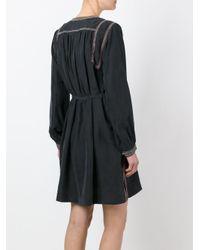 Isabel Marant - Black Embroidered Dress - Lyst