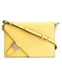 Bally - Yellow Oblique Small Shoulder Bag - Lyst