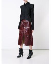 Vetements - Brown Front Slit A-line Skirt - Lyst