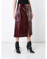 Vetements - Brown Front Slit A-line Skirt - Lyst