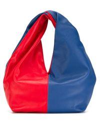 J.W.Anderson | Red Twist Leather Hobo Bag | Lyst