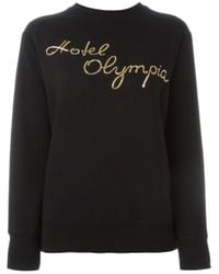 Olympia Le-Tan - Black Hotel Olympia Embroidered Sweatshirt - Lyst