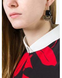 Marni - Black Embellished Drop Earrings - Lyst