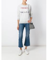 Zoe Karssen - Gray French Kissing Print Sweatshirt - Lyst