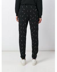 Zoe Karssen - Black Embroidered Match Track Pants - Lyst