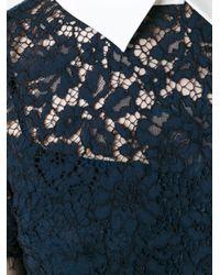 MICHAEL Michael Kors | Black Short Sleeve Lace Dress | Lyst