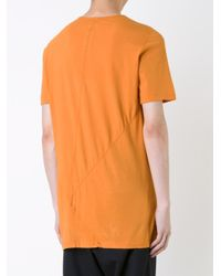 DRKSHDW by Rick Owens - Orange Woven Panel Design T-shirt for Men - Lyst