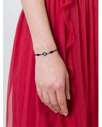 Ileana Makri - Black Flower Motif Bracelet - Lyst