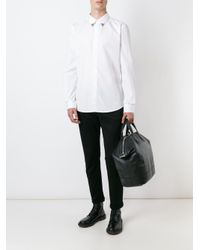 Givenchy - Black Metallic Collar Tip Shirt for Men - Lyst