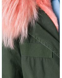 Mr & Mrs Italy - Green Chest Pocket Parka Coat - Lyst