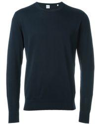 Aspesi - Blue Crew Neck Sweater for Men - Lyst