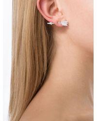 Anita Ko - Metallic Arrow Earring - Lyst