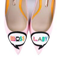 Sophia Webster - Pink Boss Lady Leather 100mm Pump - Lyst