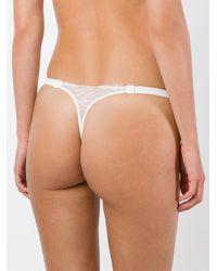 La Perla - White 'lace Flirt' Thong - Lyst