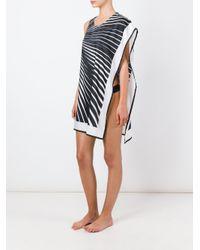 La Perla - Black 'op-art' Dress - Lyst