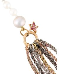 Carolina Bucci - Metallic 18kt Gold 'superstellar' Fresh Water Pearl Lariat Necklace - Lyst