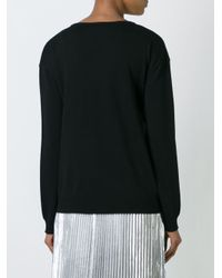 N°21 - Black No21 Front Knot Jumper - Lyst