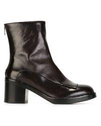 Officine Creative - Black Bettye Buffalo and Calfskin Ankle Boots - Lyst
