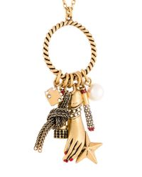 Marc Jacobs | Metallic Rope Ring Charm Necklace | Lyst