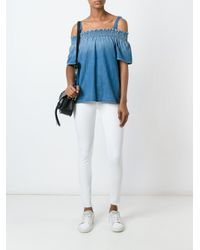 Current/Elliott - Blue 'madeline' Top - Lyst