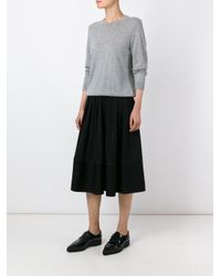 JOSEPH - Black Pleated Midi Skirt - Lyst