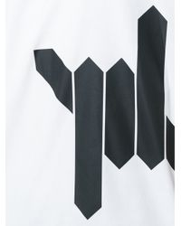 DSquared² - White Barbed Wire Print T-shirt for Men - Lyst