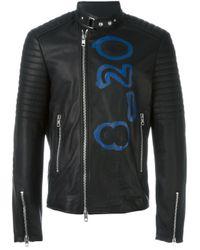 Diesel Black Gold | Black 'lime-print' Waxed Jacket for Men | Lyst