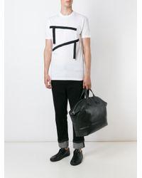 DSquared² - White Ribbon Appliqué T-shirt for Men - Lyst