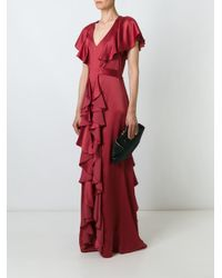 Temperley London | Red Luna Silk-Blend Maxi Dress | Lyst