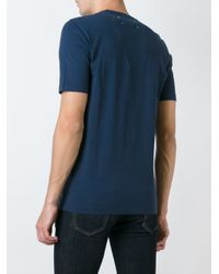 Maison Margiela - Blue Round Neck T-shirt for Men - Lyst