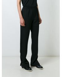 Givenchy | Black Slit Detail Trousers | Lyst