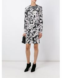 Roberto Cavalli - Black - Floral Print Shift Dress - Women - Spandex/elastane/viscose - 44 - Lyst