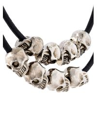 Alexander McQueen - Black Multi Skull Bracelet for Men - Lyst