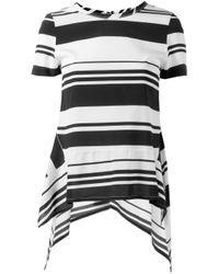 Neil Barrett - Black Striped T-shirt - Lyst