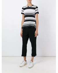 Neil Barrett - Black Striped T-shirt - Lyst