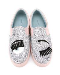 Chiara Ferragni - Metallic 'Flirting' Slip-on Sneakers - Lyst