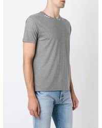 Valentino - Gray 'rockstud' T-shirt for Men - Lyst