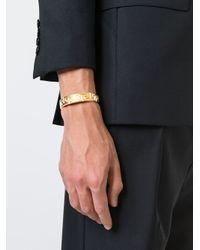 Versace - Metallic Greca Cuff for Men - Lyst