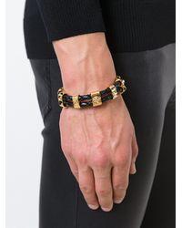 Versace - Multicolor Medusa Woven Bracelet for Men - Lyst