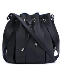 Neil Barrett - Black Paneled Leather Shoulder Bag - Lyst