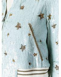 Valentino - Blue Star Sequinned Bomber Jacket - Lyst