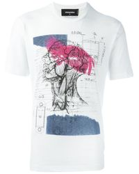 DSquared² - Black Anatomy Print T-shirt for Men - Lyst