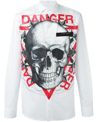 Philipp Plein - White 'danger' Shirt for Men - Lyst