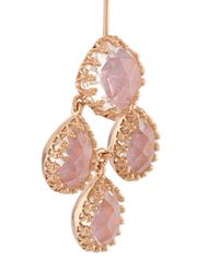 Larkspur & Hawk - Pink 'antoinette Suspended Girandole' Earrings - Lyst