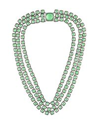 Larkspur & Hawk - Green 'antoinette 3-strand Rivière' Necklace - Lyst